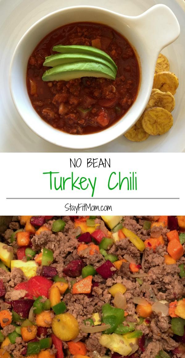 No Bean Turkey Chili Stay Fit Mom