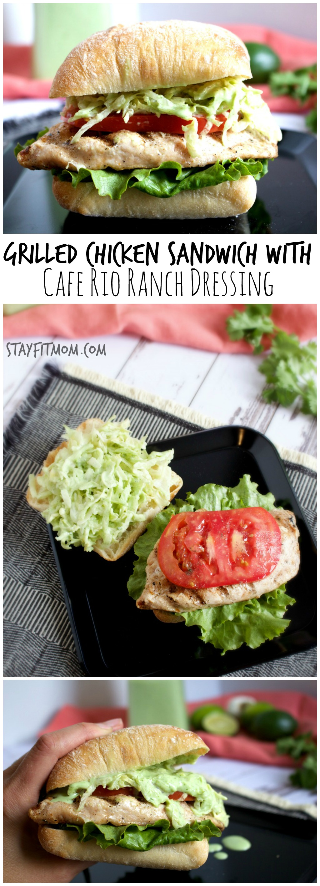 Cafe Rio Ranch Dressing Copycat Recipe Grilled Chicken Sandwich Stay Fit Mom